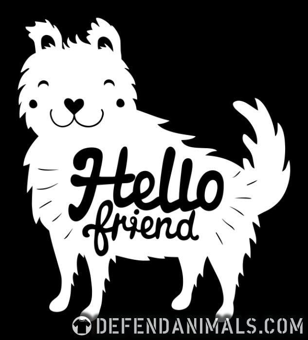 Hello friend - Dogs Lovers Women Organic T-shirt