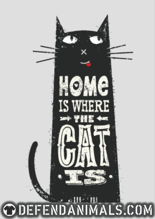 Home is where my cat is  - Cats Lovers Women Organic T-shirt