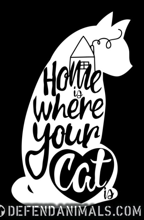 Home is where your cat is  - Cats Lovers Tank top