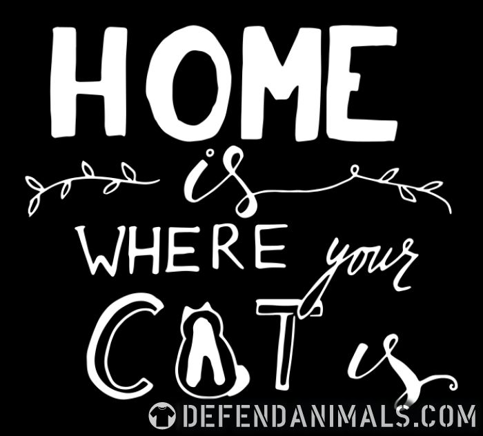 Home is where your cat is  - Cats Lovers Women Organic T-shirt