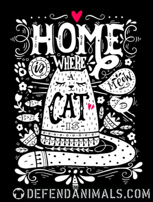 home where cat is  - Cats Lovers Women Organic T-shirt