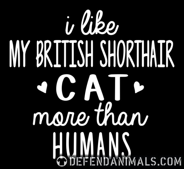 I like my british shorthair cat more than humans - Cat Breeds Women Organic T-shirt