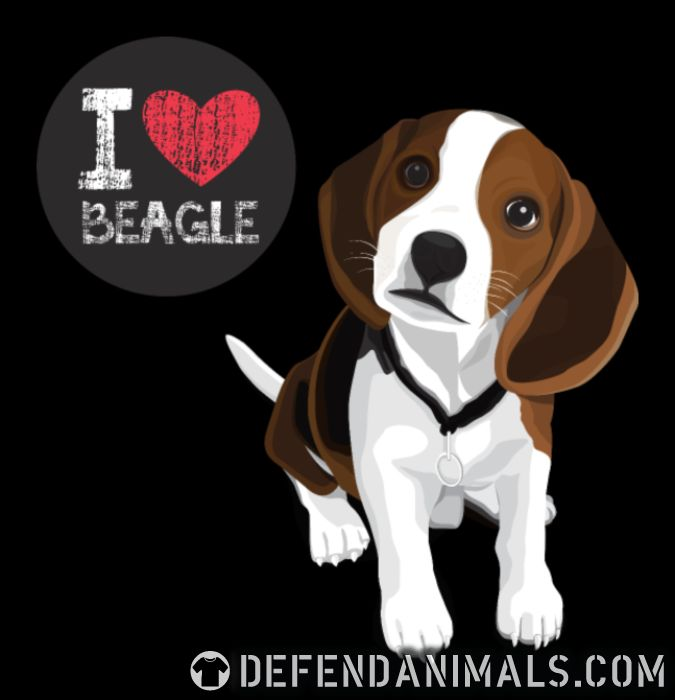 19015322 I Love Beagle · Dog Breed Local Shirt · Defend Animals