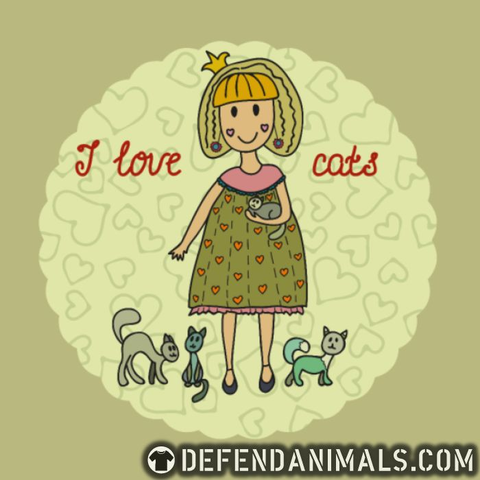 I love cats  - Cats Lovers T-shirt