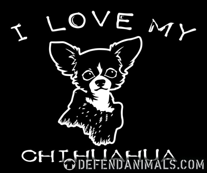 I love my chihuahua - Dog Breeds Women Organic T-shirt
