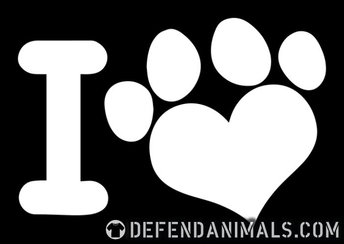 I love paw dog - Dogs Lovers T-shirt