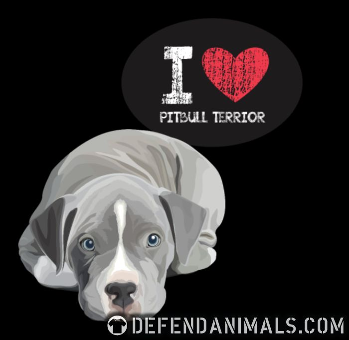 I love pitbull terrior - Dog Breeds Women Organic T-shirt