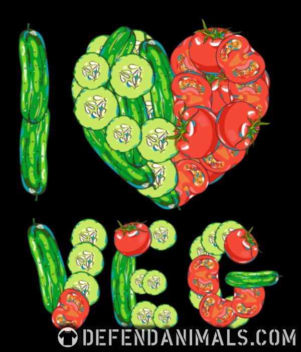 I love veg  - Vegan Women Organic T-shirt
