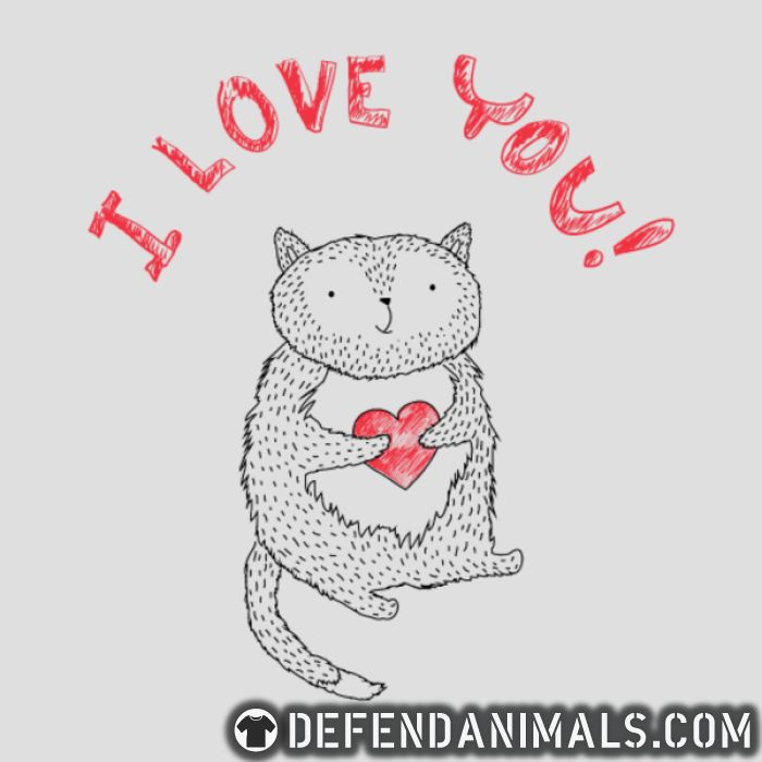 I love you ! - Cats Lovers T-shirt