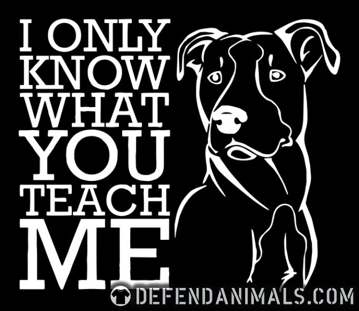 I only know what you teach me  - Dog Breeds Women Organic T-shirt