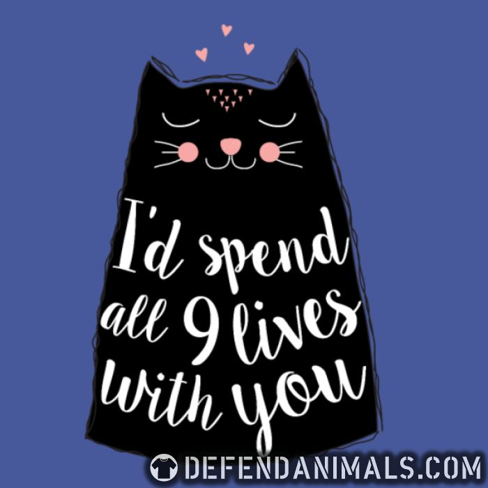 I'd spend all 9 lives with you  - Cats Lovers Women Organic T-shirt