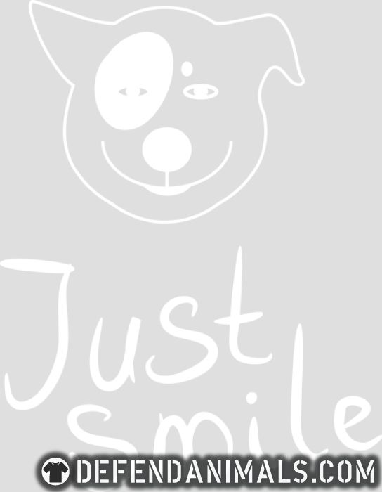 Just smile  - Dogs Lovers Women Organic T-shirt