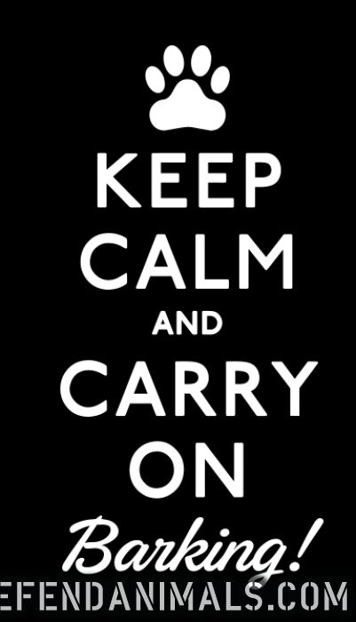 keep calm and carry on barking !  - Dogs Lovers T-shirt