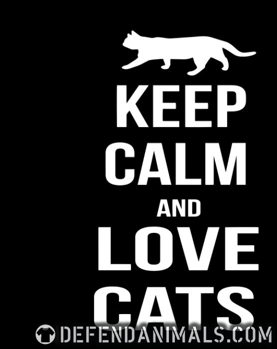 keep calm and love cats  - Cats Lovers Women Organic T-shirt