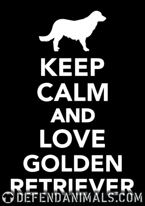 keep calm and love Golden Retriever - Dog Breeds Women Organic T-shirt