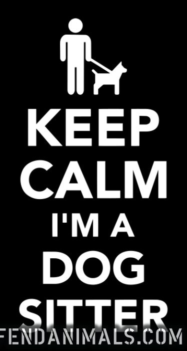 keep calm i'm a dog sitter  - Dogs Lovers T-shirt
