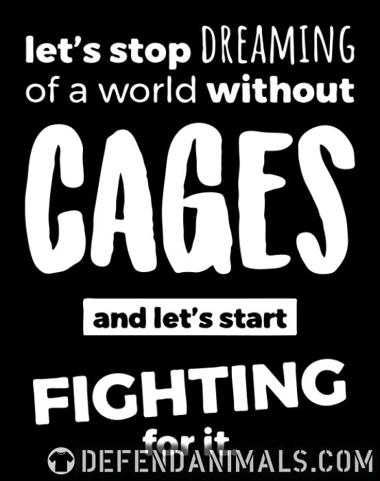 Let's stop dreaming of a world without cages and let's start fighting for it  - Animal Rights Activism Women Organic T-shirt