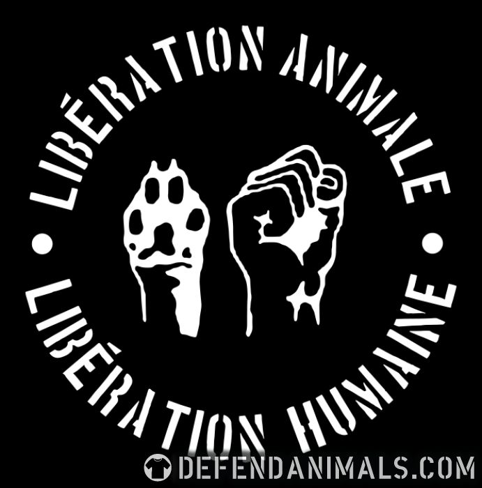 Libération animal libération humaine  - Animal Rights Activism Long sleeves