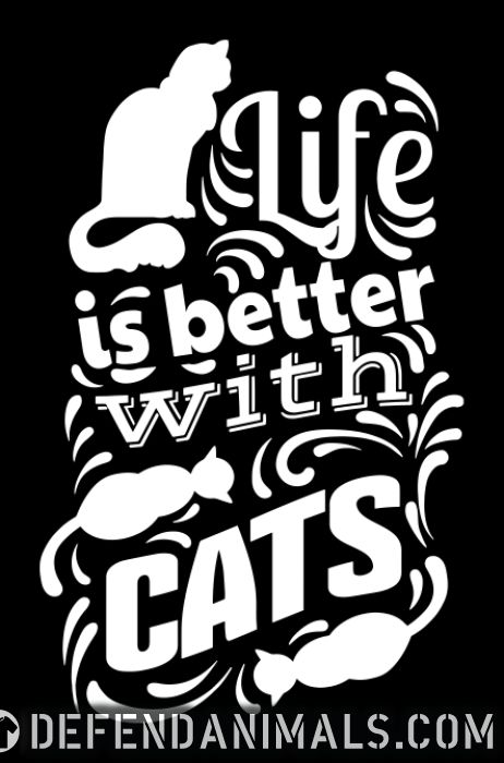 life is better with cats  - Cats Lovers Women Organic T-shirt