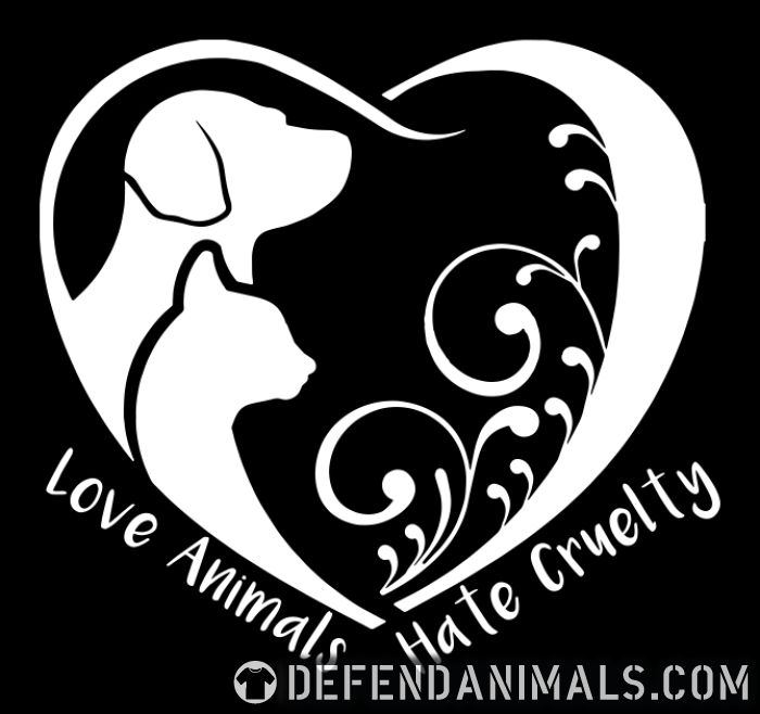Love animals hate cruelty  - Animal Rights Activism T-shirt