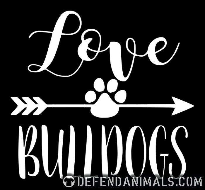 love bulldogs - Dog Breeds Women Organic T-shirt
