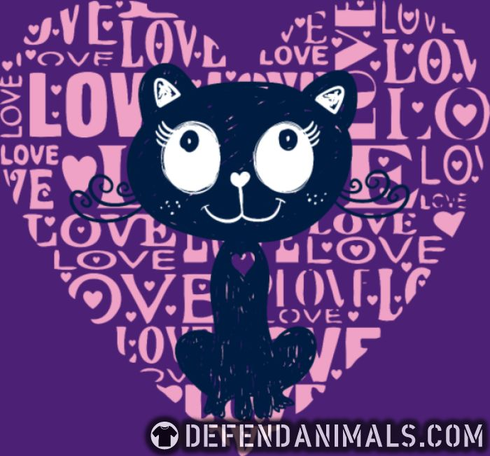 Love  - Cats Lovers Women Organic T-shirt
