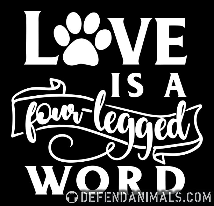 LOVE IS A WORD - Dogs Lovers Women Organic T-shirt