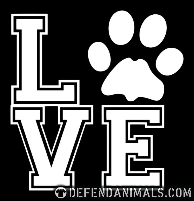 love paw - Dogs Lovers Women Organic T-shirt