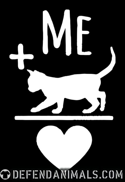Me + cat = love  - Cats Lovers Women Organic T-shirt