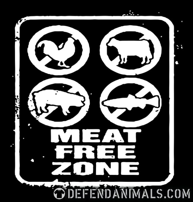 Meat free zone - Vegan T-shirt