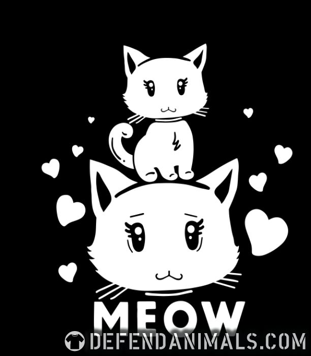 Meow  - Cats Lovers Women Organic T-shirt