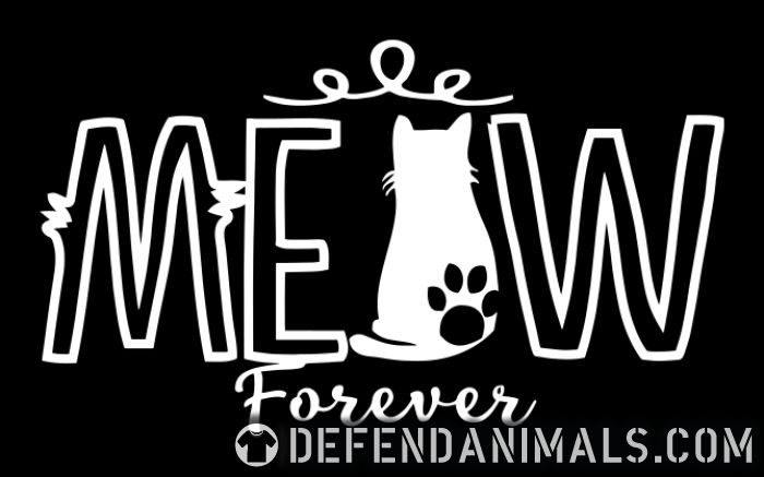 meow forever  - Cats Lovers Women Organic T-shirt