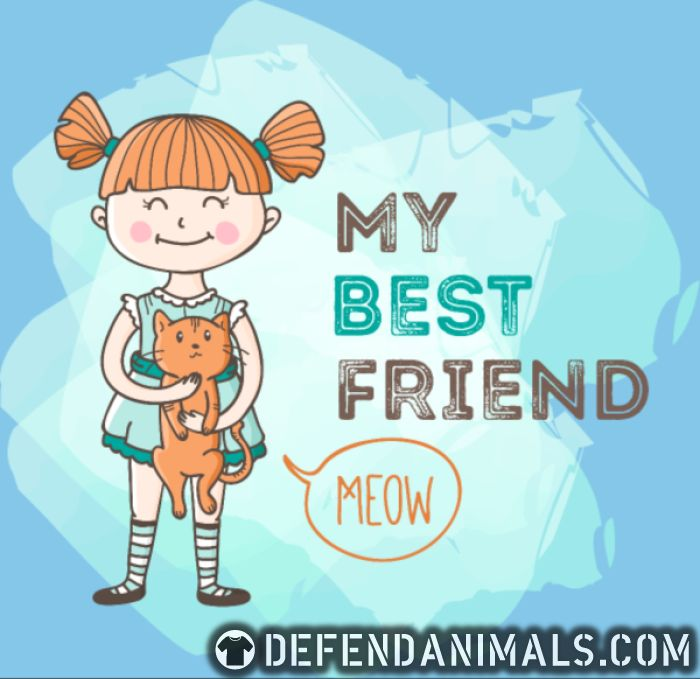 My best friend Meow  - Cats Lovers Women Organic T-shirt