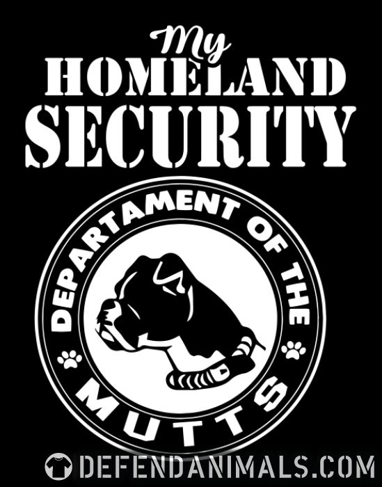 My homeland security. Departament of the mutts - Dogs Lovers Women Organic T-shirt