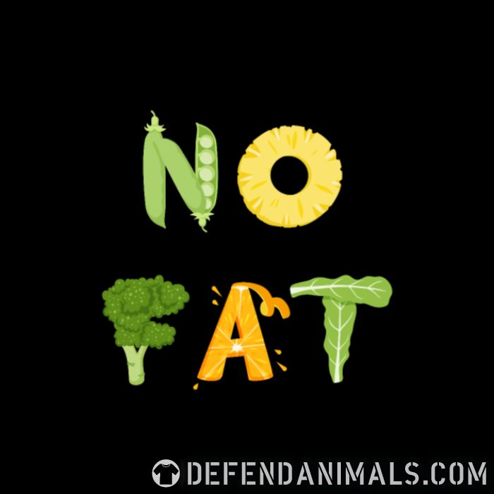 No fat  - Vegan Women Organic T-shirt