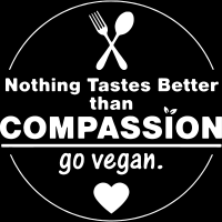 Nothing tastes better tham compassion go vegan  - Vegan T-shirt