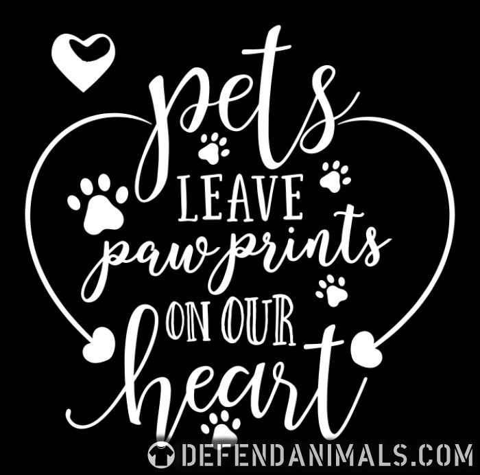 pets leave paw prints on our heart - Dogs Lovers Women Organic T-shirt
