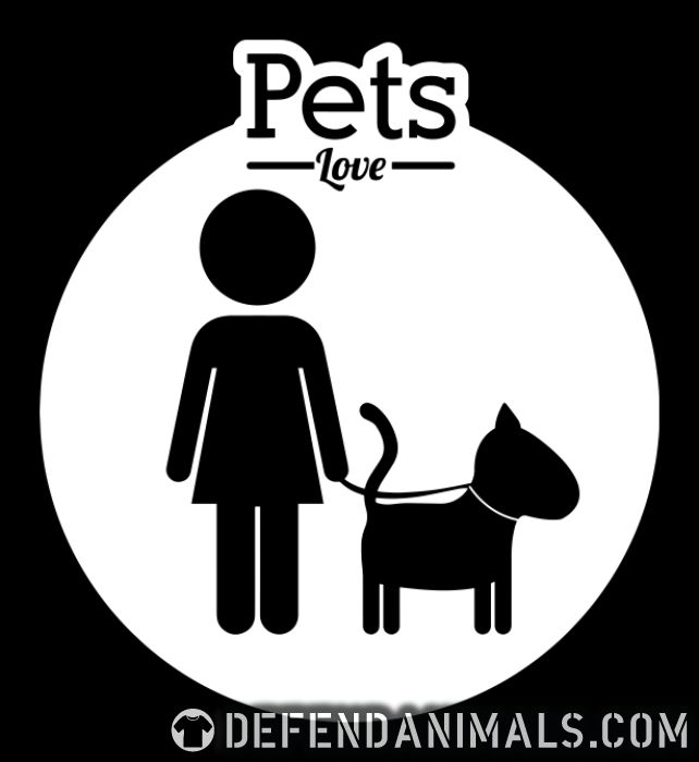 Pets love  - Dogs Lovers Women Organic T-shirt