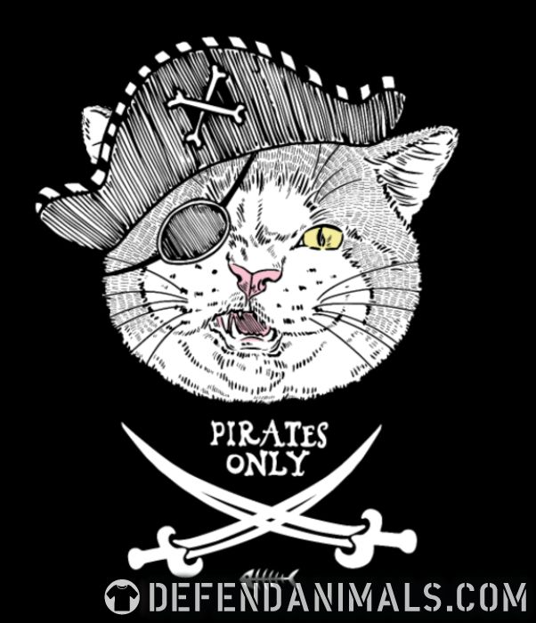 Pirates only  - Cats Lovers Women Organic T-shirt