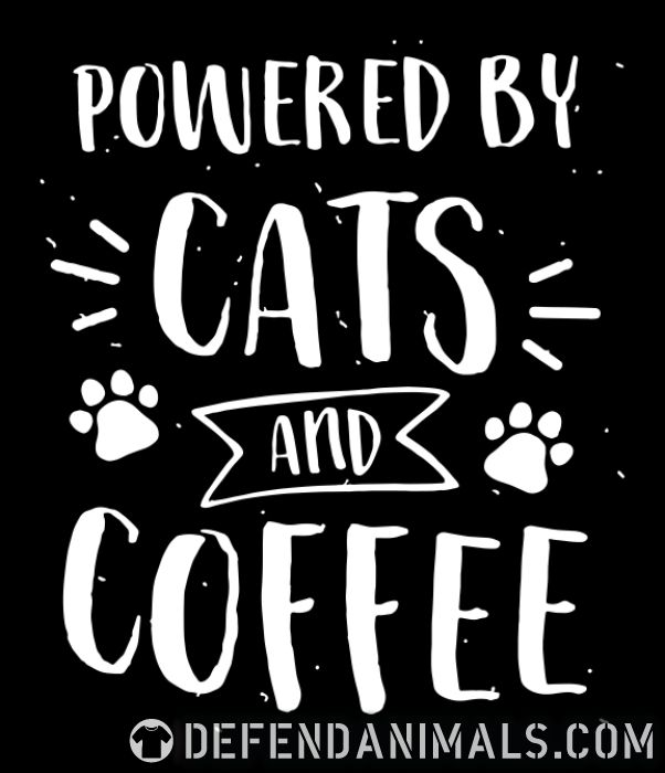 powered by cats and coffee  - Cats Lovers Zip hoodie