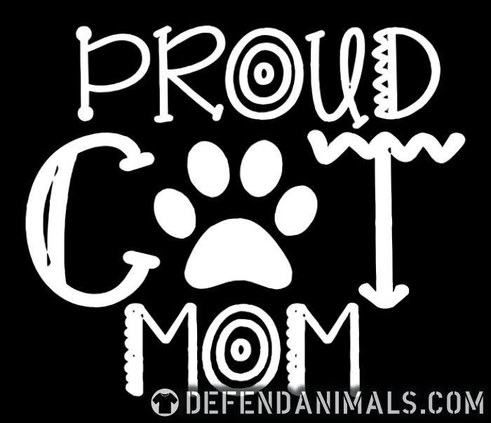 Proud cat mom  - Cats Lovers T-shirt