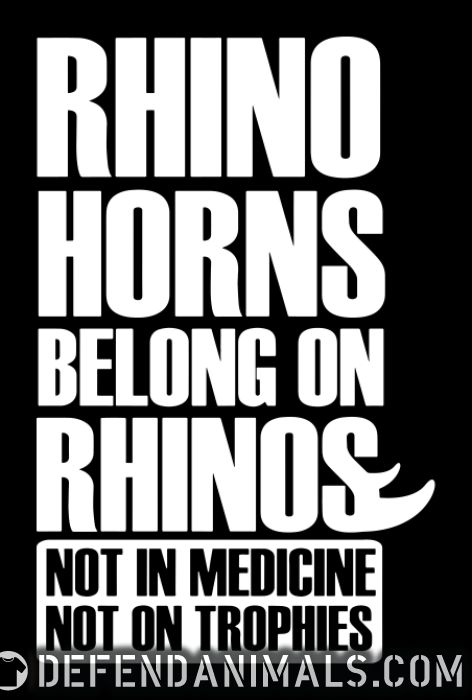 Rhino horns belong on rhinos. Not in medicine. Not on trophies - Animal Rights Activism Women tank tops
