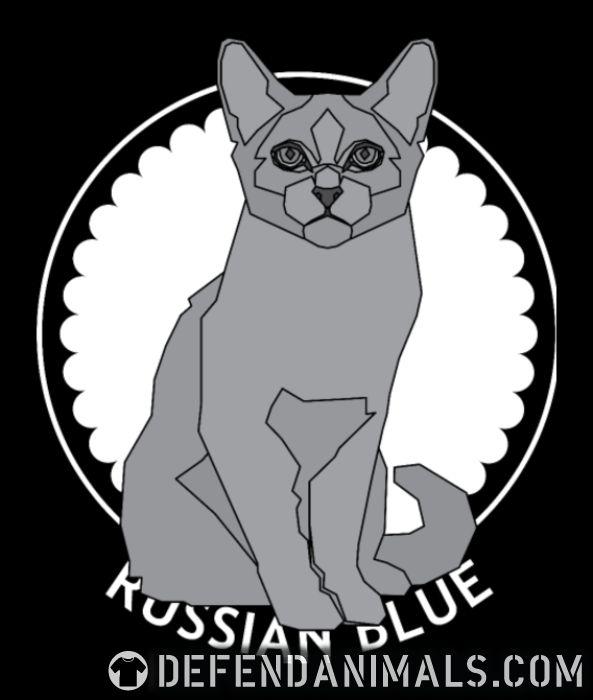Russian Blue Cat - Cat Breeds Women Organic T-shirt