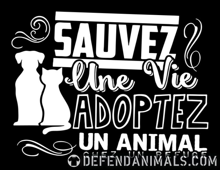 Sauvez une vie adoptez un animal chez un refuge  - Animal Rights Activism Women Organic T-shirt