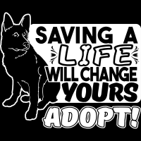 Saving a life will change yours adopt ! - Dogs Lovers T-shirt