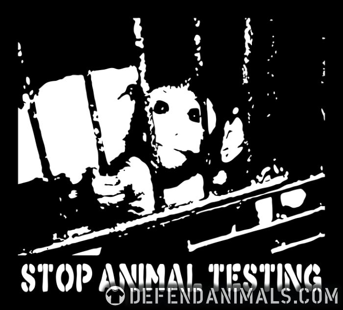 Stop animal testing  - Animal Rights Activism Back Print T-shirt
