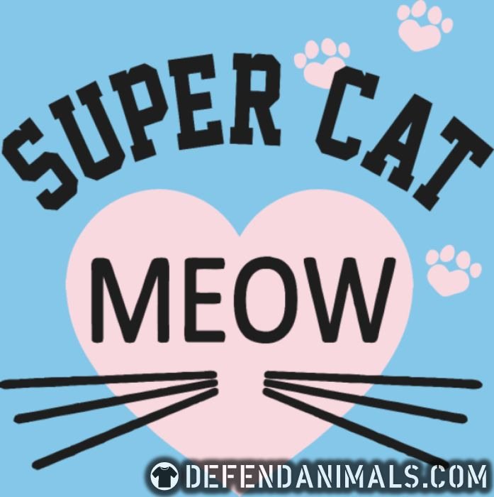 Super cat Meow - Cats Lovers Women Organic T-shirt