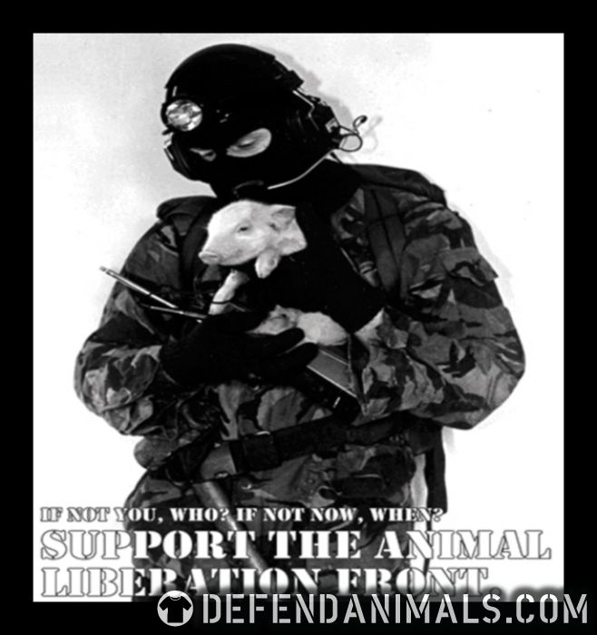 Support the animal liberation front - Animal Rights Activism T-shirt