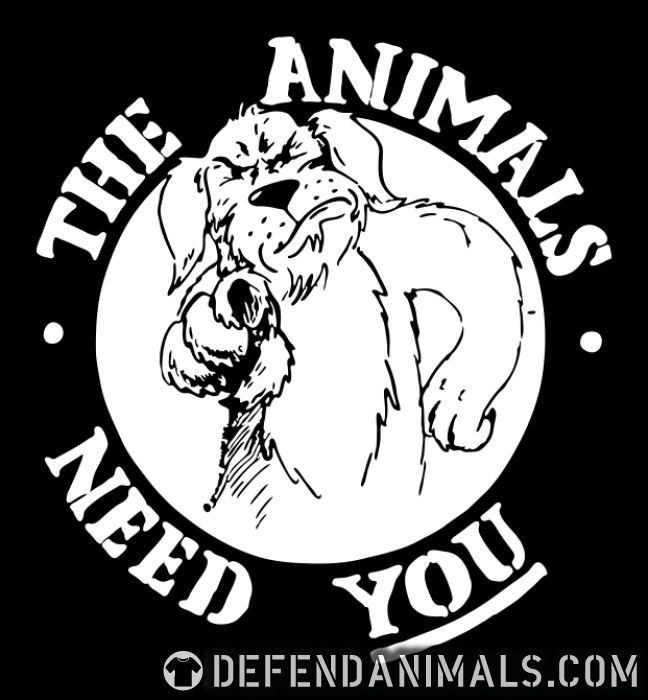The animals need you - Animal Rights Activism Women Organic T-shirt