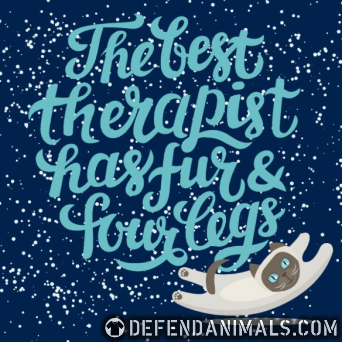 the best therapist has fur & four legs - Cats Lovers Women Organic T-shirt